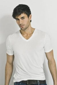 latin crooner in white shirt