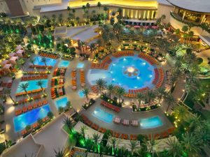 multi level resort pool