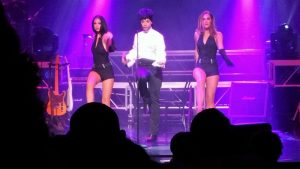 Prince tribute star and two dancers