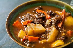 lamb stew in bowl