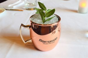 mint julep in copper cup