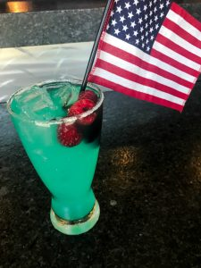 cocktail with American flag