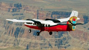 airplane in canyon