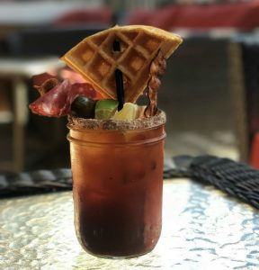 bloody Mary with waffle