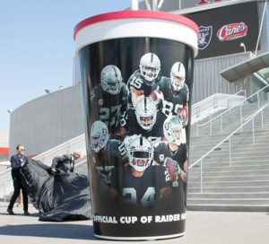 football team plastic cup