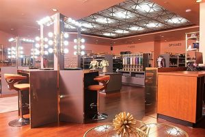 interior retail makeup store