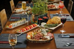 table of sushi