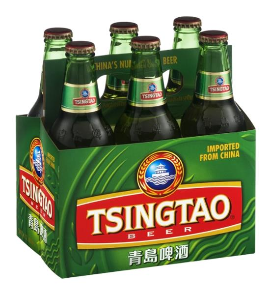 six pack of Chinese beer