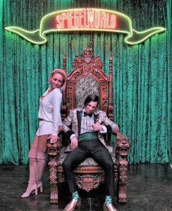man and woman on throne
