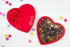 two heart candy boxes