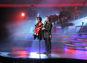 MJ puppet and ventriloquist
