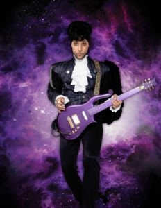 Prince artist in purple
