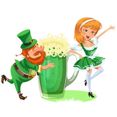 leprechauns and tankard