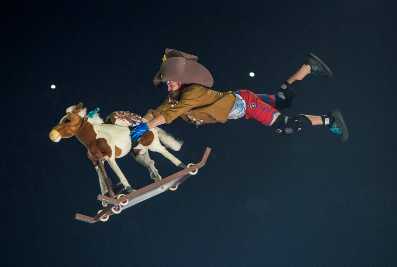 circus clown rocking horse