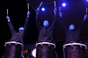 Blue men drumming