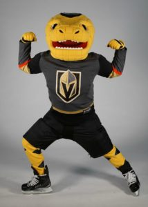 hockey mascot in yellow