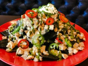 piled high nachos