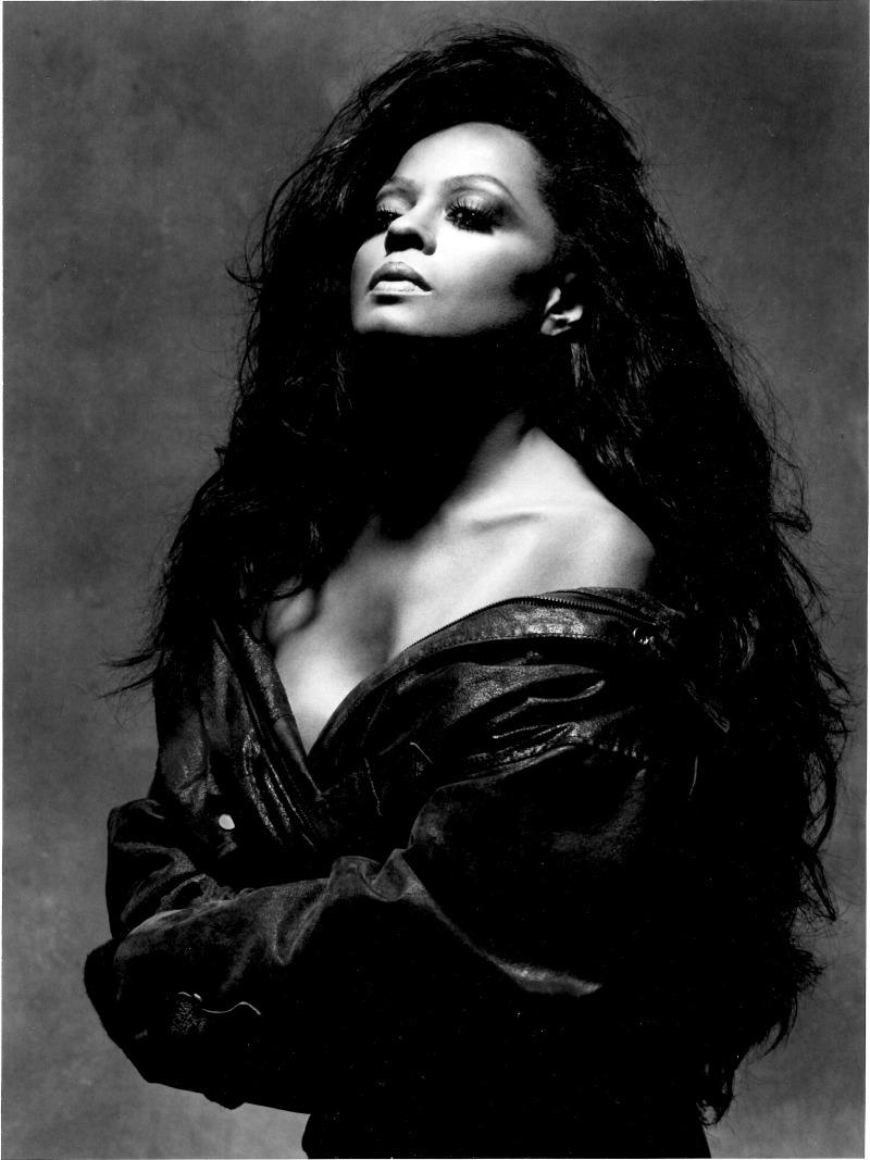 b/w photo Diana Ross
