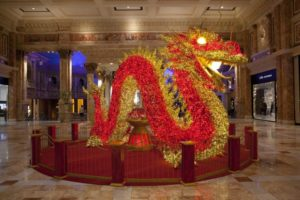 lighted red dragon