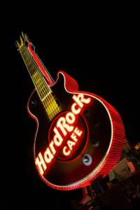 iconic guitar neon sign