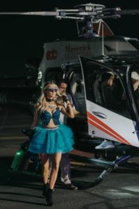 celeb and helicopter