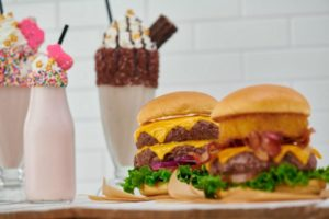 dble burgers and shake