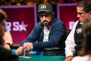 poker player in cap