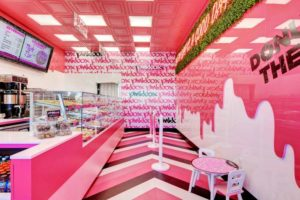 interior donut shop