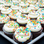 chocolate cupcakes white frosting